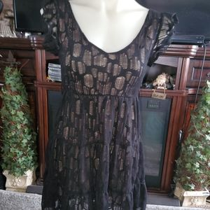 Black lace dress SMALL